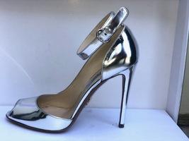PRADA Silver Metallic Open Toe Strappy Sandals Heels Size 8.5 - $399.99