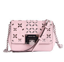 Michael Kors Tina womens small CLUTCH BAG crossbod stud floral Pink NWT  - £82.82 GBP