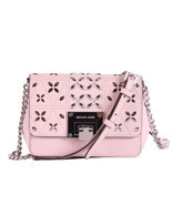 Michael Kors Tina womens small CLUTCH BAG crossbod stud floral Pink NWT  - ₹7,476.98 INR