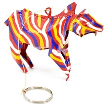 Handcrafted Painted Colorful Recycled Aluminum Tin Can Zebra Ornament Zimbabwe