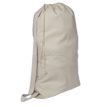Canvas Laundry Bag Heavy Duty Natural Storage School Campus Durable Cord... - $24.70+