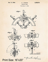 """1941 Higgins Boat Accessories Sailing Gifts For Him 16""""x20"""" Patent Art P... - $17.33"""
