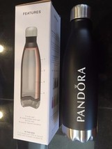 Pandora Charm Jewelry H2GO FORCE Water Bottle Matte Black Iconic Hot & Cold Gift - $33.31