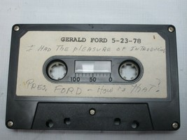 Gerald Ford Cassette Tape Recording President  Cleveland Ohio 1978 - $189.00
