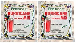 Franco's New Orleans Style Hurricane Cocktail Mix, 9 Ounce Pouch Pack of 2, Make
