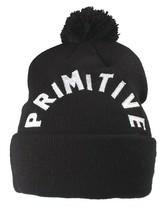 Primitive NEW ERA Noir Blanc Brodé Arc Pompon Bonnet Hiver Skate Chapeau Nwt