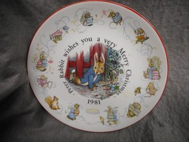 "VINTAGE COLLECTOR PLATE ""PETER RABBIT CHRISTMAS 1981""  WEDGWOOD N/R - $14.99"