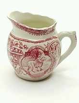 Antique Child's Playtime Pottery Red CREAMER 1880s ALLERTONS Staffordshire - $46.04