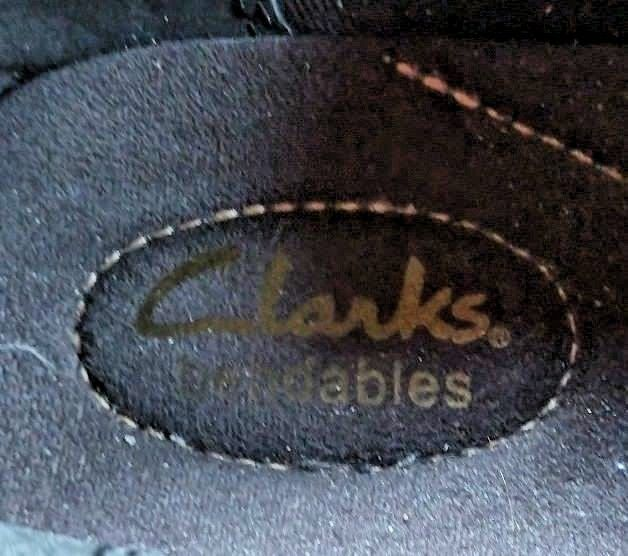 Clarks Size 9 Bendables Slip On Walking Comfort Career Clogs Black Leather Shoes