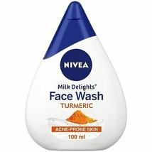 NIVEA Women Face Wash for Acne Prone Skin, Milk Delights Turmeric, 100ml - $8.81