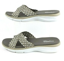 Easy Spirit Womens Slide Sandals Gray Tan E360 Shoes Size 11-12 Medium EUC - $24.64 CAD