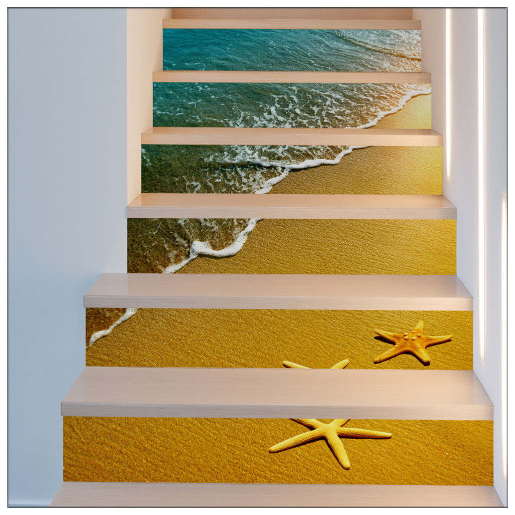 Primary image for DIY Steps Sticker Removable Stair Sticker Mural Wrap020 Starfish