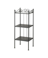 IKEA Ronnskar Shelf Unit Black, Steel and Tempered Glass, 100.937.63 - NEW - $99.99
