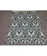 DAMASK AISLE RUNNER  Black and Ivory, Indoor Outdoor,  Wedding, Bridal, ... - $159.00