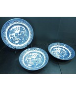 """Churchill England Blue Willow 2 8.75"""" Soup Bowls and a 10"""" Dinner Plate - $36.95"""