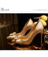 91H001 Romantic lady's high heeled pump w rhinestone & pearl,size 3-9, c... - $72.80