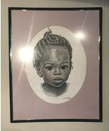 "J. Macdonald Henry Jamaican Girl  Print 11"" X 14 Picture Charcoal Art Fr... - $79.30"
