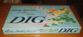 "1959 Parker Brothers DIG"" Board Game Complete Beautiful Condition Great ... - $29.95"