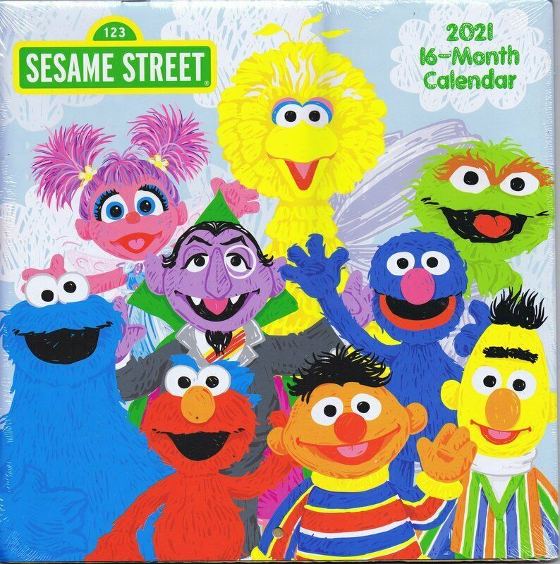 Primary image for NEW SEALED 2021 Official Sesame Street 16 Month Wall Calendar