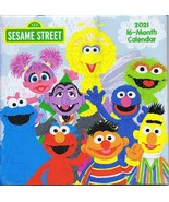 NEW SEALED 2021 Official Sesame Street 16 Month Wall Calendar - $9.49