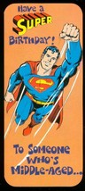 NEAL ADAMS SUPERMAN BIRTHDAY CARD #19 1978 NM - $18.62