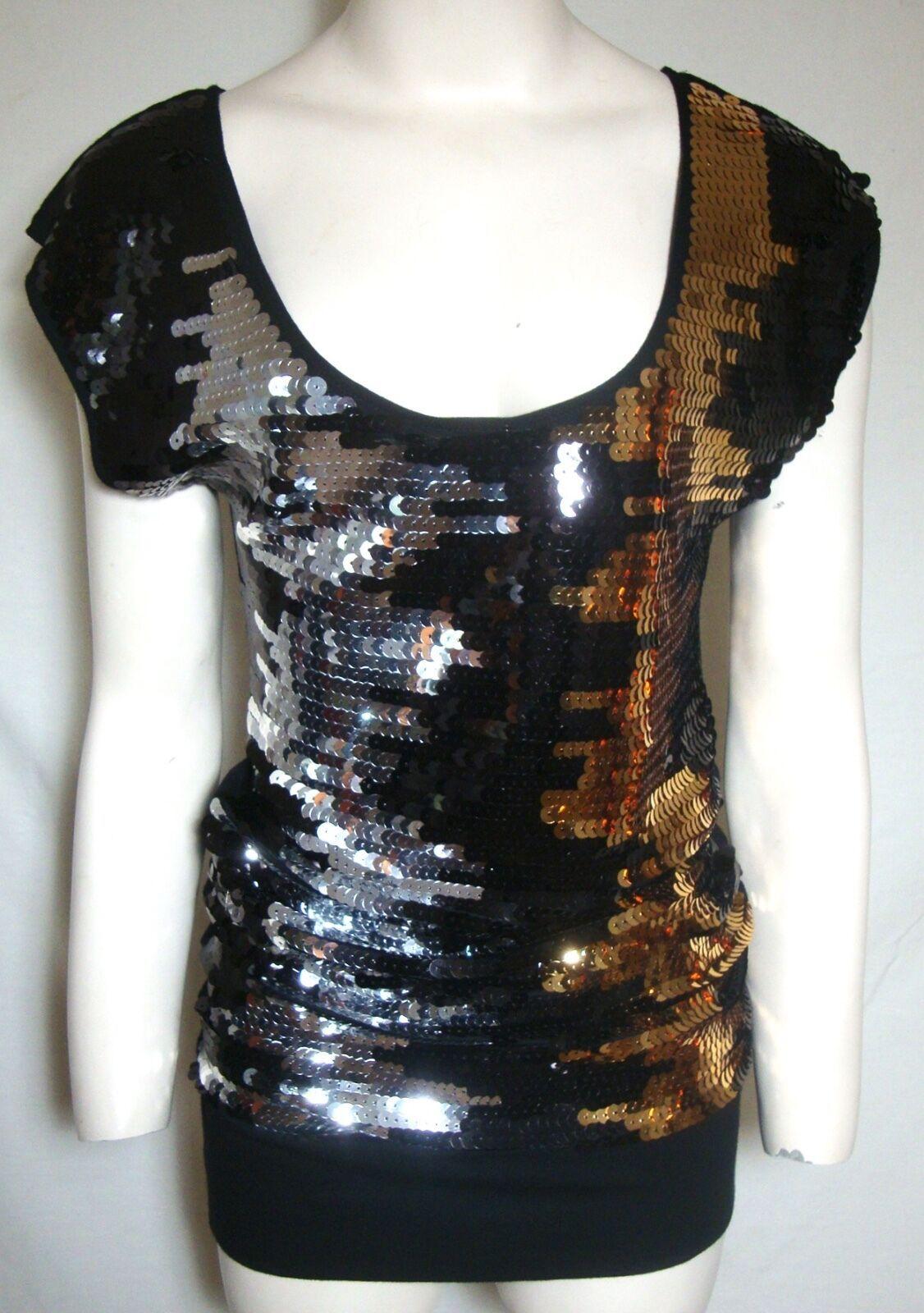 c2448204 Bcbg Sequin Mini Dress Silver Gold Black and 18 similar items