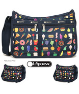 LeSportsac FoodMojis Deluxe Everyday Bag + Cosmetic Bag Free Ship NWT Fo... - $92.00