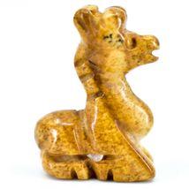 Picture Jasper Gemstone Tiny Miniature Giraffe Figurine Hand Carved in China image 4