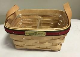 """Longaberger 1993 Holiday """"Basket of Thanks""""- Divided Plastic Liner  - $28.42"""