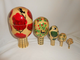 "Russian Matryoshka Nesting Doll Tree of Seasons 5 Piece 7"" - $185.25"