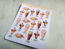 Old Soda Fountain Sticker Sheet