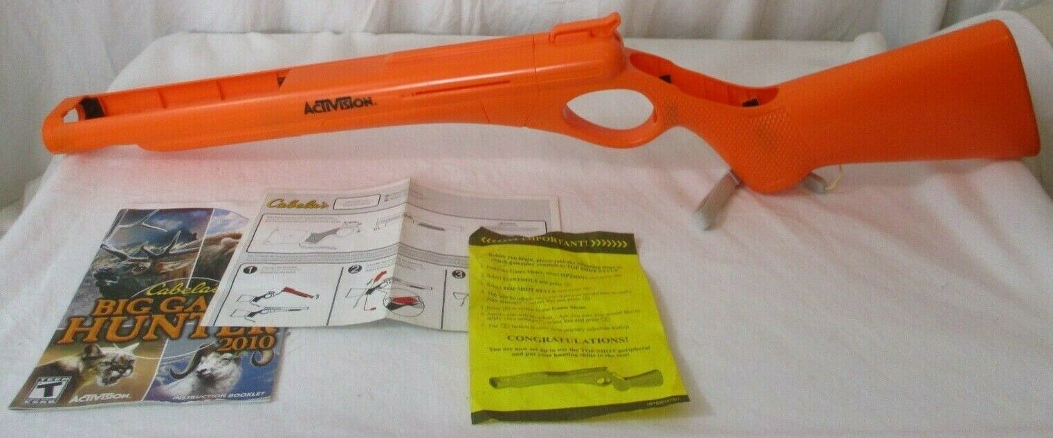 Primary image for CABELAS ACTIVISION Shotgun Gun Rifle Orange Nintendo Wii Controller W Strap