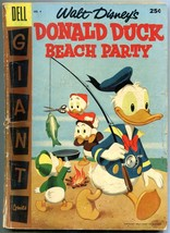 Dell Giant Donald Duck Beach Party #4 1957 FAIR - $18.62