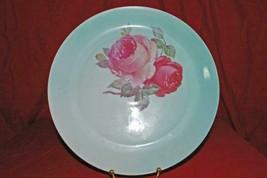 "ZS & C Bavaria Pink Rose Round Platter Chop Plate 12"" - $6.92"