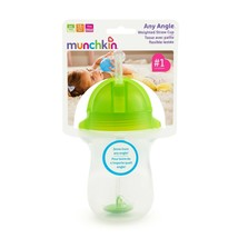 Munchkin Click Lock Weighted Straw Cup 10 oz, Spill Proof - $16.01
