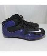 Nike Zoom Merciless NFL Pro Shark Football Cleats Size 14 Purple Black - $51.94