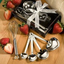 Heart Measuring Spoons and Whisks Wedding Gifts Bridal Shower Favors - €8,03 EUR
