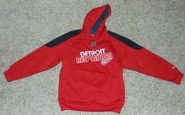 Hoodie Sweatshirt Boys Reebok NHL Detroit Red Wings Hockey Red Black -  ... - $9.90