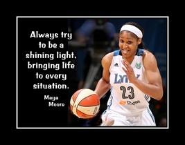 Inspirational Basketball Motivation Quote Poster Maya Moore Birthday Gift - $19.99+