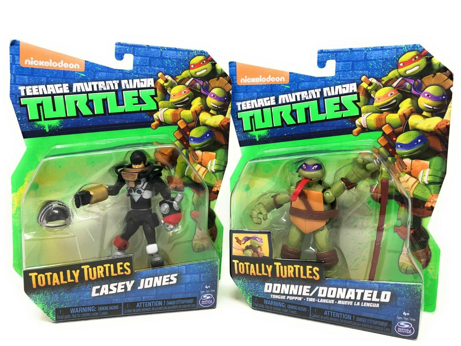 Teenage Mutant Ninja Turtles-Donatelo Tongue Poppin/Casey Jones-Action Figures - $29.99