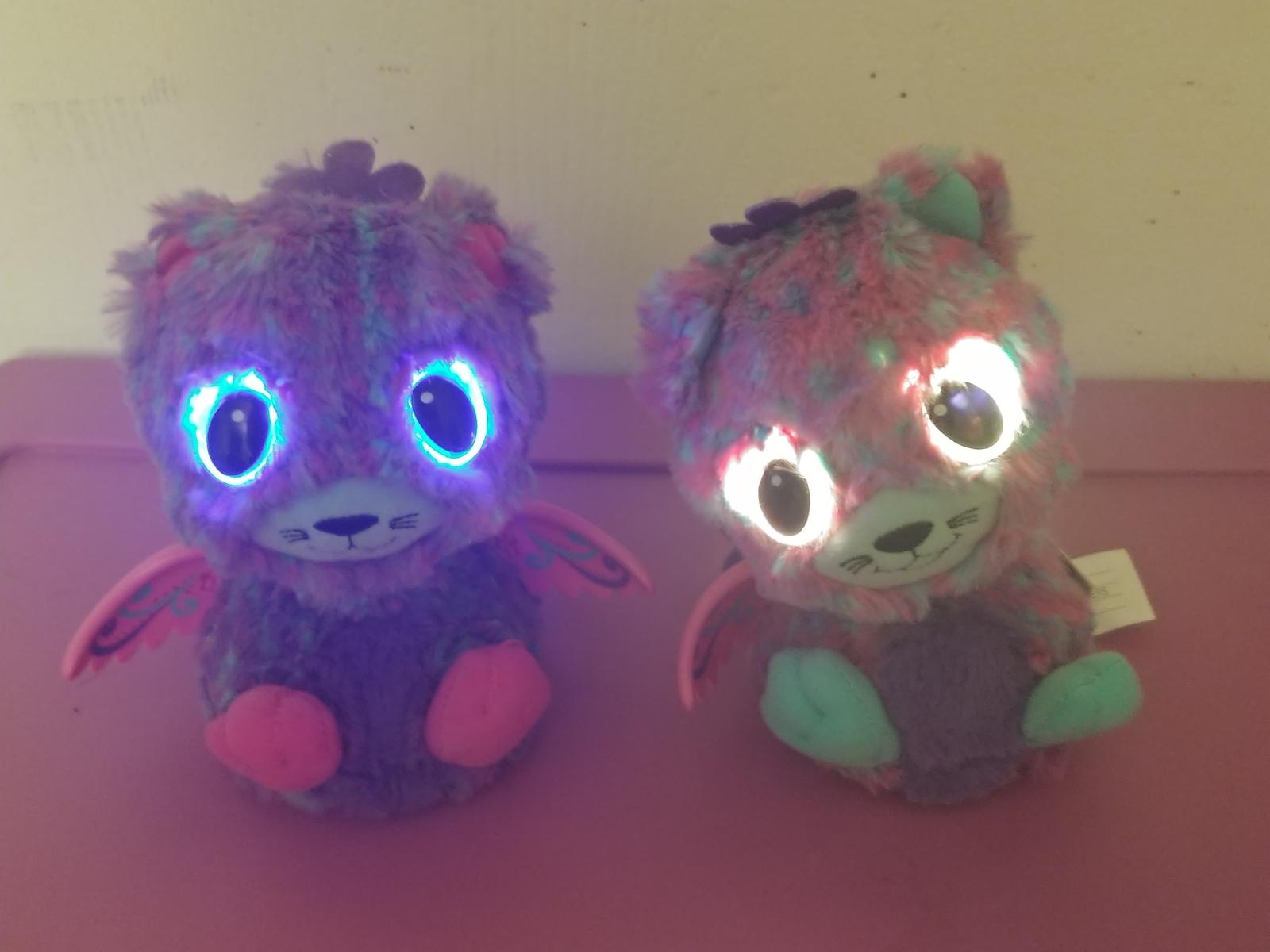 Hatchimal Surprise Twins Peacat Interactive Purple Pink Wings