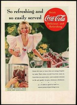 Vintage magazine ad COCA COLA 1937 So Refreshing and so Easily Served wo... - $11.69
