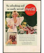 Vintage magazine ad COCA COLA 1937 So Refreshing and so Easily Served wo... - $12.99