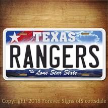 Texas Rangers MLB Baseball Team Texas Aluminum Vanity License Plate - $12.82