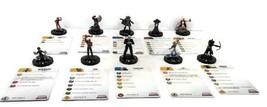 Marvel Heroclix Ensemble de 10 Figurines avec Assorti Cartes - $9.49