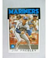 Jim Presley Seattle Mariners 1986 Topps Baseball Card Number 598 - $0.98