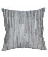 U-L512 PL512-F COWHIDE LEATHER HAIR-ON PATCHWORK CUSHION PILLOW COVER - $29.95