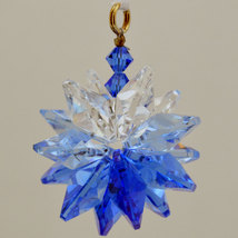Small Colored Crystal Suncluster Ornament image 8