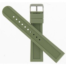 Swiss Army Brand 22mm Large Green Rubber Str Dive Master 500 Watch band 004627 - $125.00