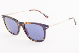 Tom Ford ARNAUD 625 52V Havan Gold / Blue Sunglasses TF625 52V 53mm - $195.02